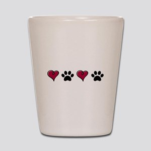Love Pets Shot Glass
