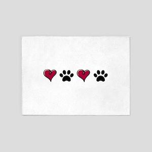 Love Pets 5'x7'Area Rug