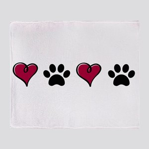 Love Pets Throw Blanket