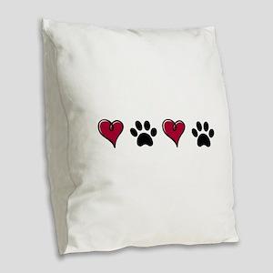 Love Pets Burlap Throw Pillow