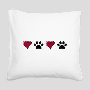 Love Pets Square Canvas Pillow