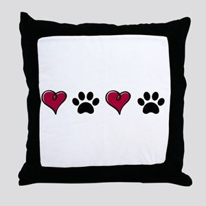 Love Pets Throw Pillow