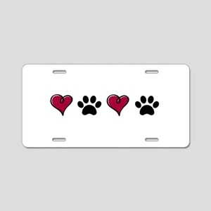 Love Pets Aluminum License Plate