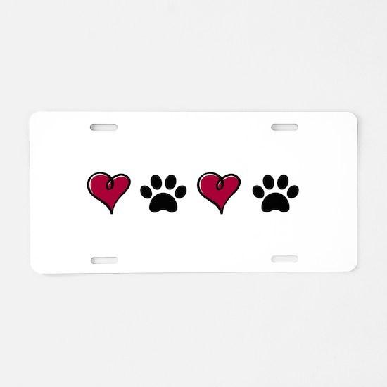 Love Pets Aluminum License Plate