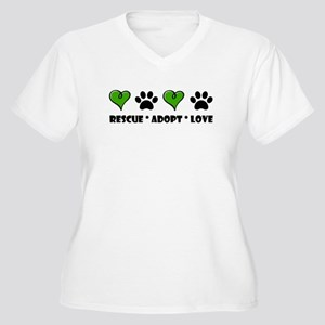Rescue*Adopt*Love Plus Size T-Shirt