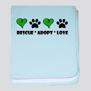 Rescue*Adopt*Love baby blanket