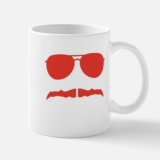 mustache red Mugs