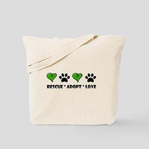Rescue*Adopt*Love Tote Bag