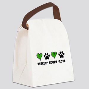 Rescue*Adopt*Love Canvas Lunch Bag