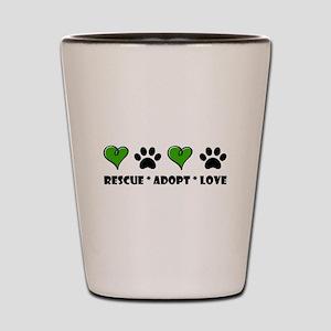 Rescue*Adopt*Love Shot Glass