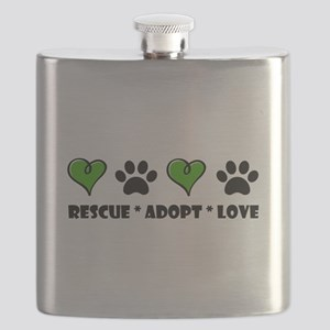 Rescue*Adopt*Love Flask