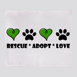 Rescue*Adopt*Love Throw Blanket
