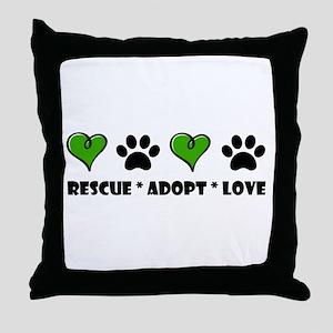 Rescue*Adopt*Love Throw Pillow