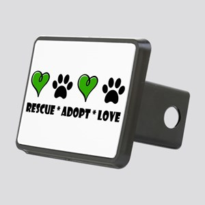 Rescue*Adopt*Love Rectangular Hitch Cover