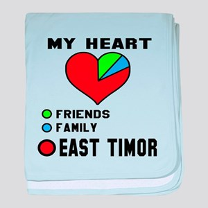 My Heart Friends, Family and East Tom baby blanket