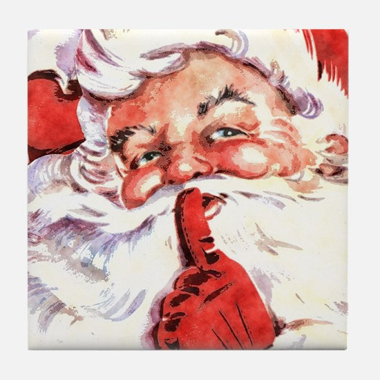 Santa20151106 Tile Coaster