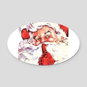 Santa20151106 Oval Car Magnet