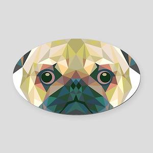 Pug Oval Car Magnet