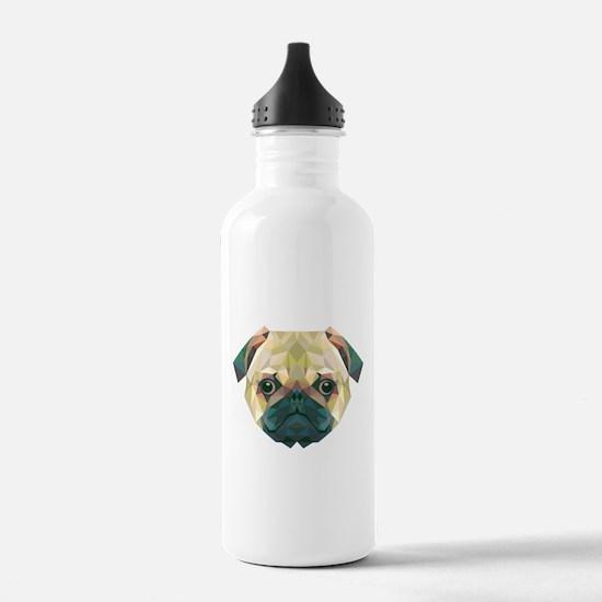 Pug Sports Water Bottle