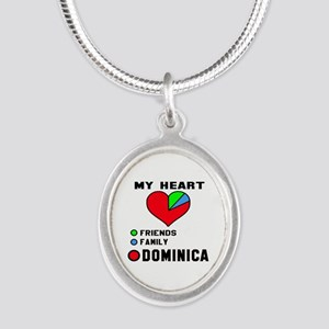 My Heart Friends, Family and Silver Oval Necklace