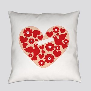 Floral Heart Everyday Pillow