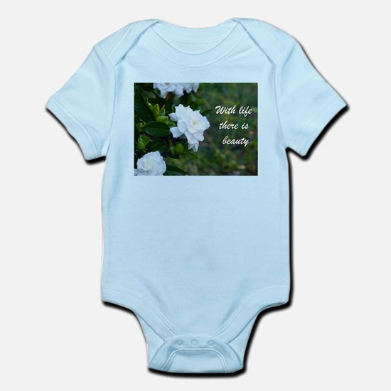 Meaningful Gardenia Flower Quote Body Suit