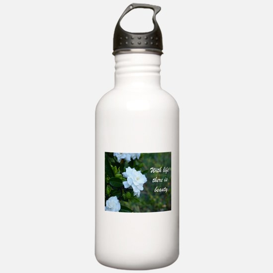 Meaningful Gardenia Fl Water Bottle