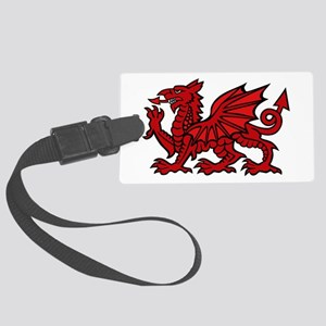 Red Welsh Dragon Large Luggage Tag