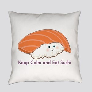 Keep Calm And Eat Sushi Everyday Pillow