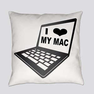 I Love My Mac Everyday Pillow