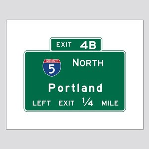 Portland, OR Road Sign, USA Small Poster