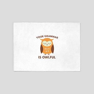 Your Grammar Is Owlful 5'x7'Area Rug