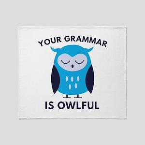 Your Grammar Is Owlful Stadium Blanket