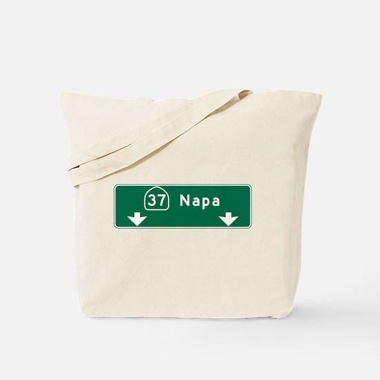 Napa, CA Road Sign, USA Tote Bag