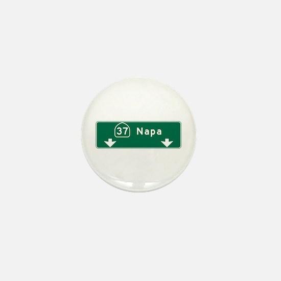 Napa, CA Road Sign, USA Mini Button