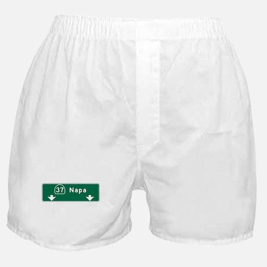 Napa, CA Road Sign, USA Boxer Shorts