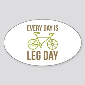 Every Day Is Leg Day Sticker (Oval)