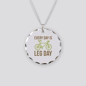 Every Day Is Leg Day Necklace Circle Charm