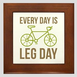 Every Day Is Leg Day Framed Tile