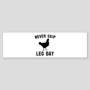 Never Skip Leg Day Sticker (Bumper)