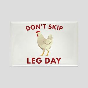 Don't Skip Leg Day Rectangle Magnet (10 pack)