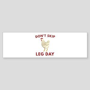 Don't Skip Leg Day Sticker (Bumper)
