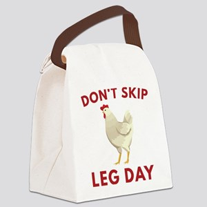 Don't Skip Leg Day Canvas Lunch Bag