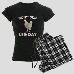Don't Skip Leg Day Women's Dark Pajamas
