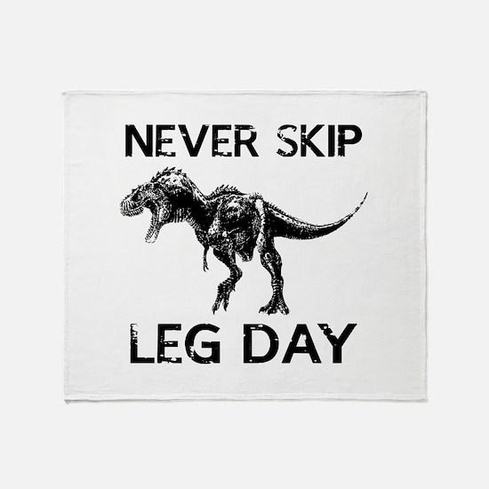Never Skip Leg Day Stadium Blanket