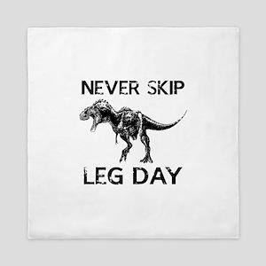 Never Skip Leg Day Queen Duvet