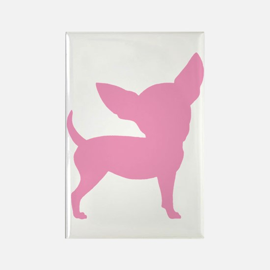Pink Funny Cute Chihuahua Rectangle Magnet