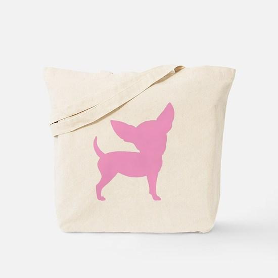 Pink Funny Cute Chihuahua Tote Bag