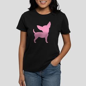 Pink Funny Cute Chihuahua Women's Dark T-Shirt