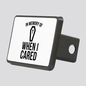 In Memory Of Wen I Cared Rectangular Hitch Cover